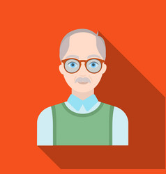 old manold age single icon in flat style vector image
