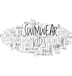 baby swimsuits text word cloud concept vector image
