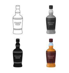 bottle of scottish whiskey icon in cartoon style vector image