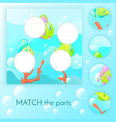Compliance with childrens educational game match vector