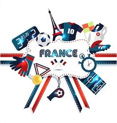 France tourism vector image