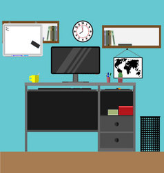 Home workplace vector image