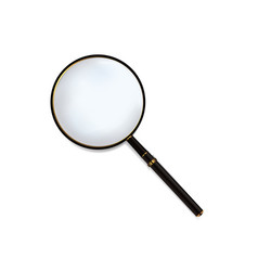 magnifying glass with black wood handle vector image