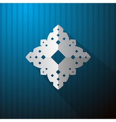 Paper Cut Snowflake on Blue Background vector image vector image