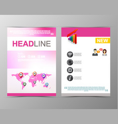 Abstract blurred geometric brochure template map vector