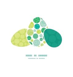 Abstract green circles three matching vector