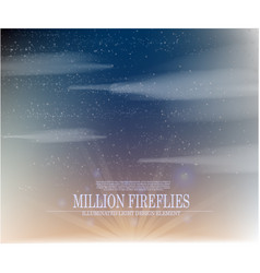Abstract million fireflies on the sky backg vector