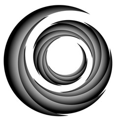 Abstract spiral twirl element volute shape vector