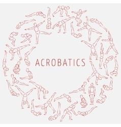 Acrobatics round 1 vector