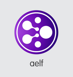 aelf cryptocurrency elf web icon vector image