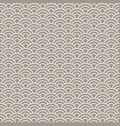 Asian style wave seamless pattern vector