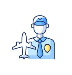 Aviation security rgb color icon vector