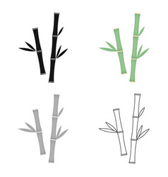 bamboo icon of for web and vector image