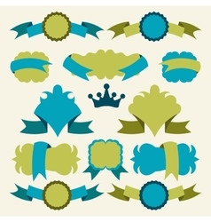 banners and badges vector image