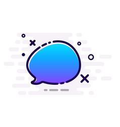 Blue gradient speech bubble on white background vector