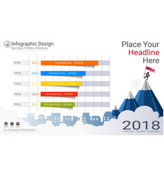 Business infographics template milestone timeline vector