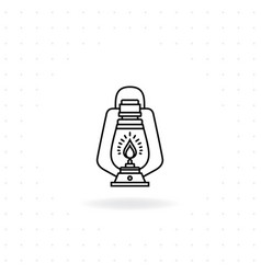 camping lantern icon vector image