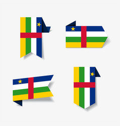 central african republic flag stickers and labels vector image