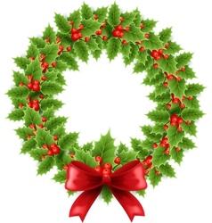 Christmas chaplet vector