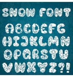 Christmas snowflakes alphabet vector