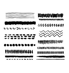 collection grunge hand drawn elements vector image
