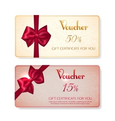 collection voucher gift cards vector image