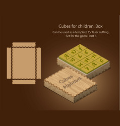 Cubes for children can be used as a template for vector