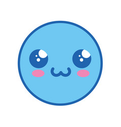 cute kawaii emoticon vector image