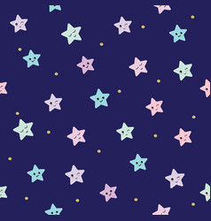 cute seamless pattern background with cartoon vector image