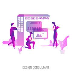 Design consultant conceptual design vector