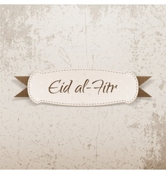 Eid al-fitr decorative paper tag vector