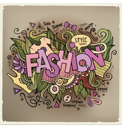 Fashion hand lettering and doodles elements vector image