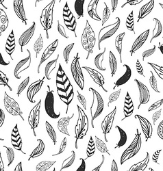 Feather background retro pattern vector
