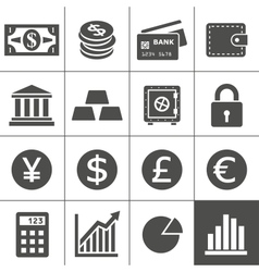 Financal icons set - Simplus series vector image