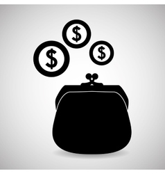 financial item design money icon flat vector image