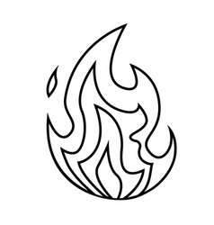 fire small flame symbol isolated on a white vector image