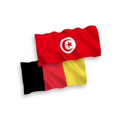 Flags belgium and republic tunisia vector