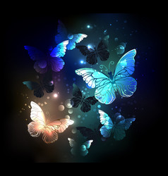 Fluttering butterfly vector