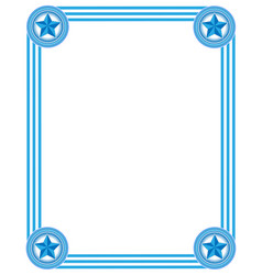 frame in light blue tones vector image