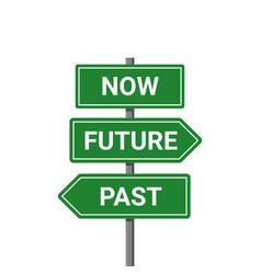 Future past present board icon now pas and future vector