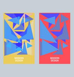 Geometric triangular design style vector