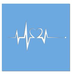 Heartbeat line heart cardio vector