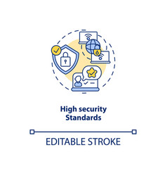 High security standards concept icon vector