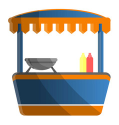 hot dog kiosk icon cartoon style vector image