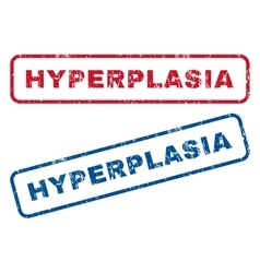 Hyperplasia Rubber Stamps vector