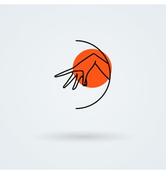 icons with a graceful female hand in a beautiful vector image