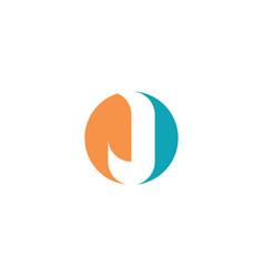 j logo letter circle icon logotype element vector image
