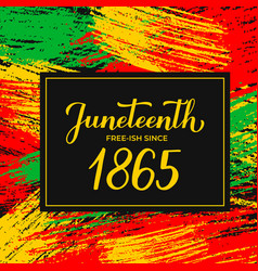 Juneteenth banner african american holiday on vector