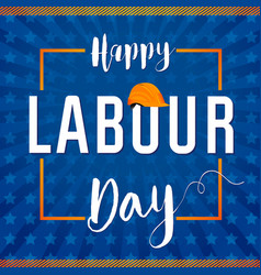 Labour day star lettering card concept vector