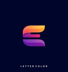 letter e template vector image